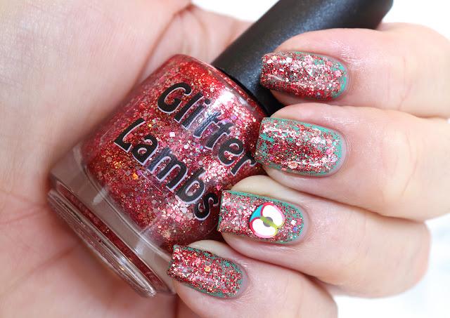 Fall Glitter Topper Nail Polishes by Glitter Lambs Nail Polish-Red Glitter