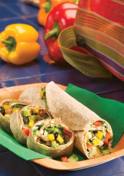 Veggie Tortilla Roll-Ups Recipe