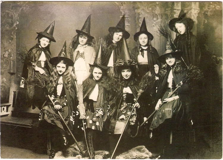 old photos of women in witch costumes circa 1800s
