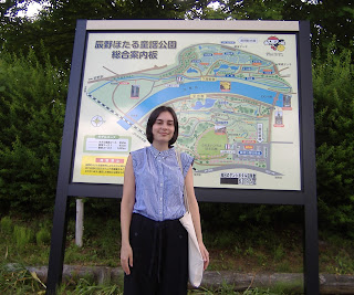 エレン ハウガンさん,松尾峡で調査研究。