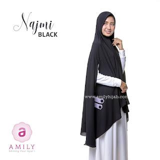 Hijab Amily Khimar Najmi Black