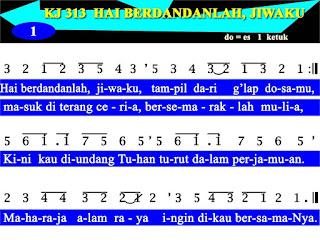 Lirik dan Not Kidung Jemaat 313 Hai Berdandanlah, Jiwaku