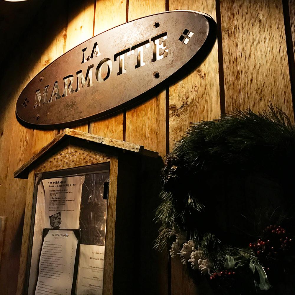 La Marmotte French Restaurant in Telluride, Colorado.