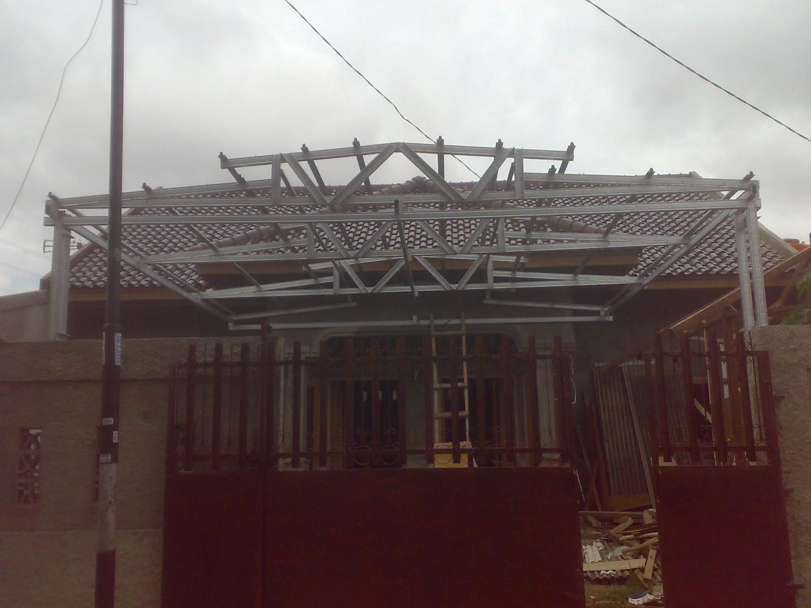 rangka atap baja ringan model limas kuda ...