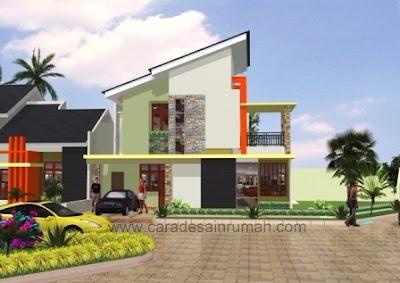 Rumah bertingkat minimalis type 140