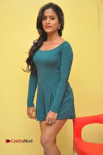 Telugu Actress Prasanthi Stills in Green Short Dress at Swachh Hyderabad Cricket Press Meet  0029.JPG