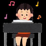 エレクトーンを弾いている女の子のイラスト