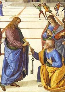 Jesus gives Peter the keys to the Kingdom