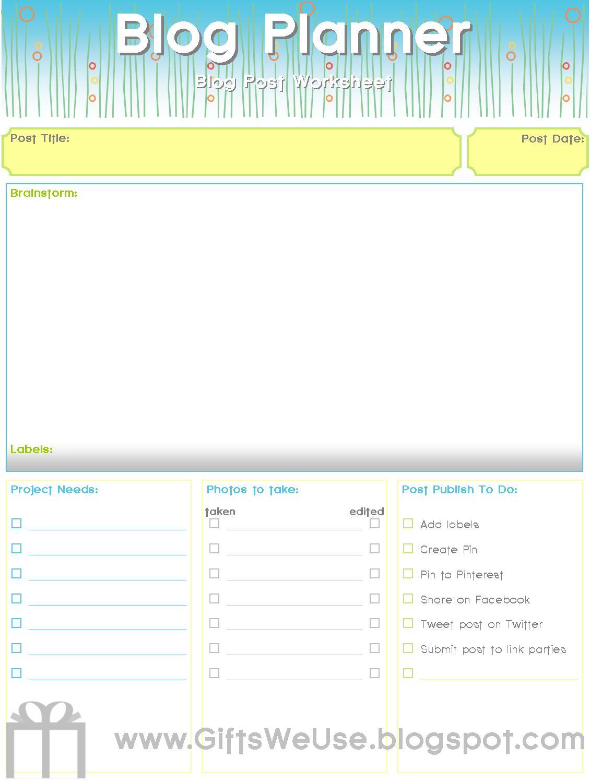 Ts We Use Learn As I Blog Blog Planner Amp Printable