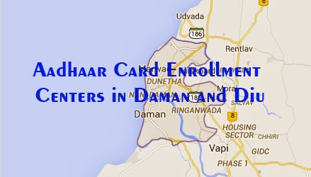 Aadhaar Card Enrollment Centers in Daman and Diu