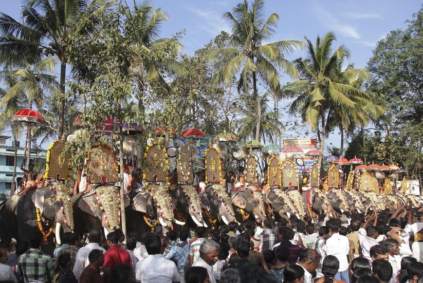 festival thrissur district inde du sud kerala