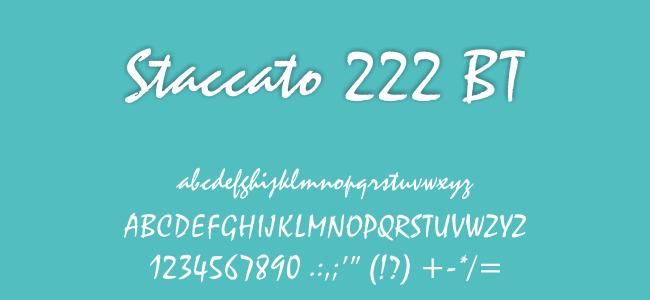 Kumpulan Font Undangan - Staccato 222 BT Font