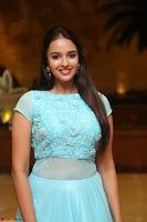 Pujita Ponnada in transparent sky blue dress at Darshakudu pre release ~  Exclusive Celebrities Galleries 004.JPG