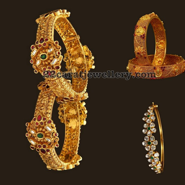 Antique and Pachi Bangles with Gemstones