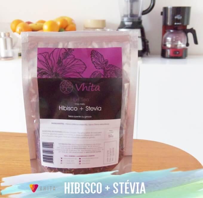 Chá de Hibisco com Stevia