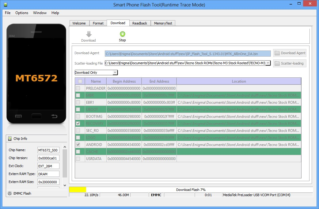 How To Flash Android Phones With SP Flash Tool - MTK - avatecc