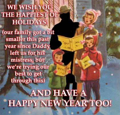 cheating husband holiday christmas card