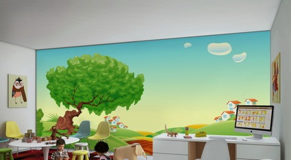 Children's decor with wall paintings 3