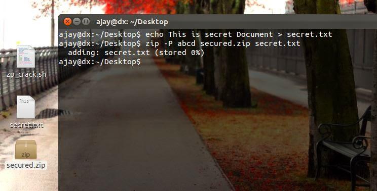 Sec-Art: A simple Zip Password Cracker Shell script for