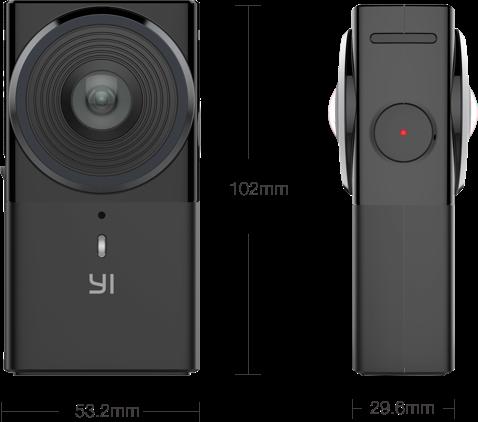 Габариты YI 360 VR