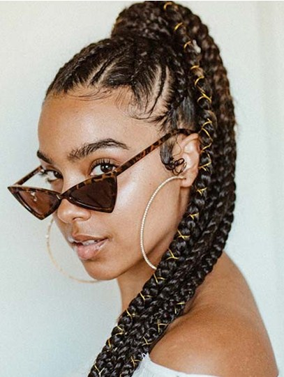Braided Ponytail with Cords