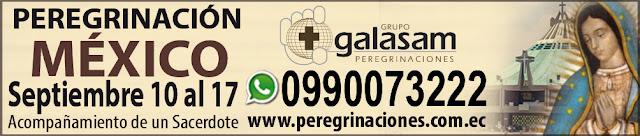 Del 10 al 17 de septiembre del 2019, Peregrinación a México.