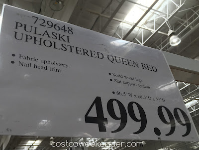 Deal for the Pulaski Furniture Queen Upholstered Bed at Costco
