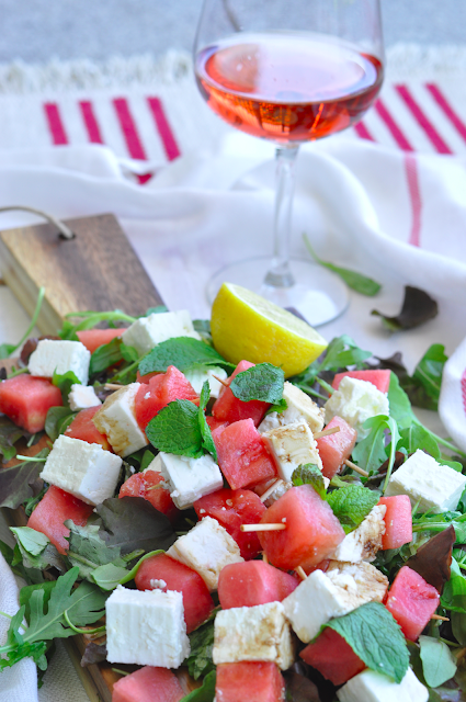 Watermelon, Mint & Feta Skewers