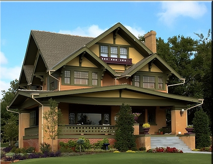 American houses craftsman style for American style mansions