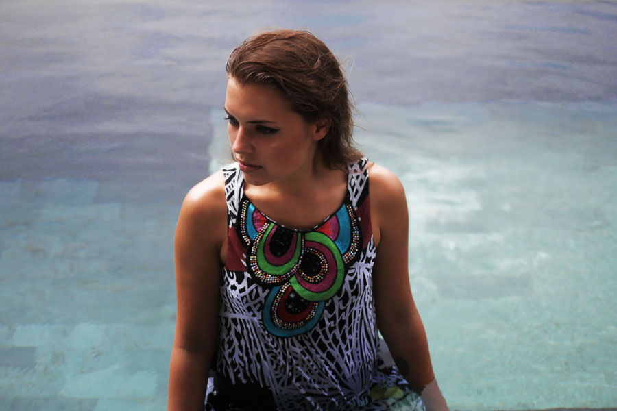 desigual shooting dress bali