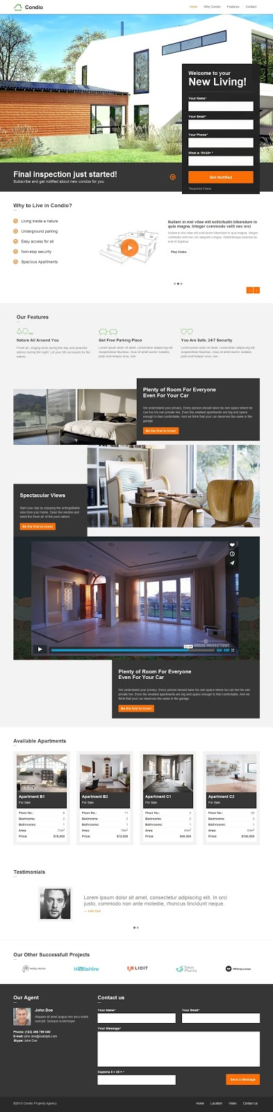 Best Real Estate One Page Joomla Template