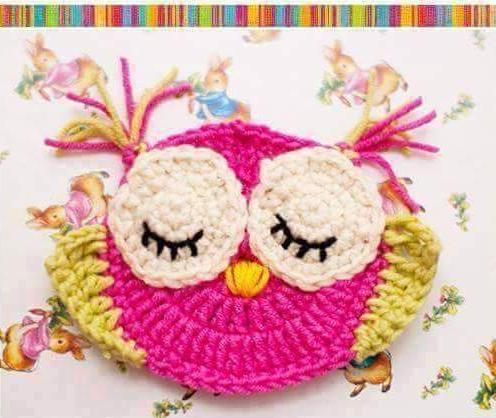 Patrón #1469: Figura de Búho a Crochet