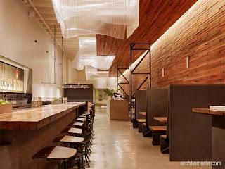 3. Model rumah makan sedikit modern