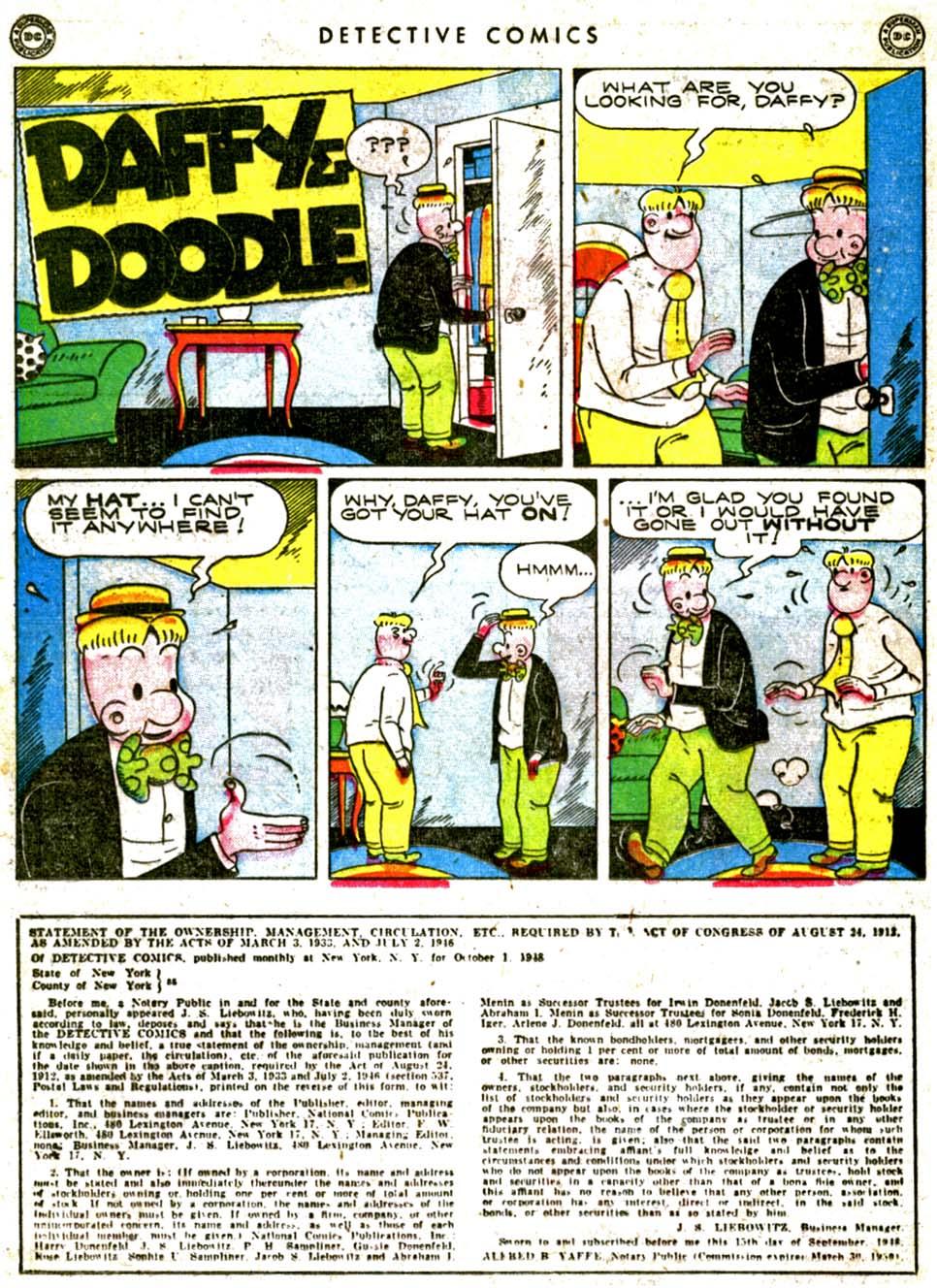 Read online Detective Comics (1937) comic -  Issue #144 - 34