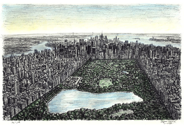 Stephen Wiltshire retrato del Central Park, New York