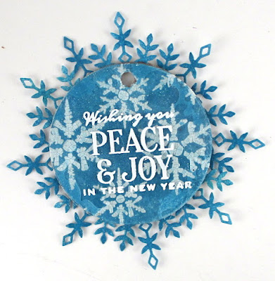 Stampers Anonymous Festive Overlay Tim Holtz Layering Stencil  Snowflakes  For The Funkie Junkie Boutique