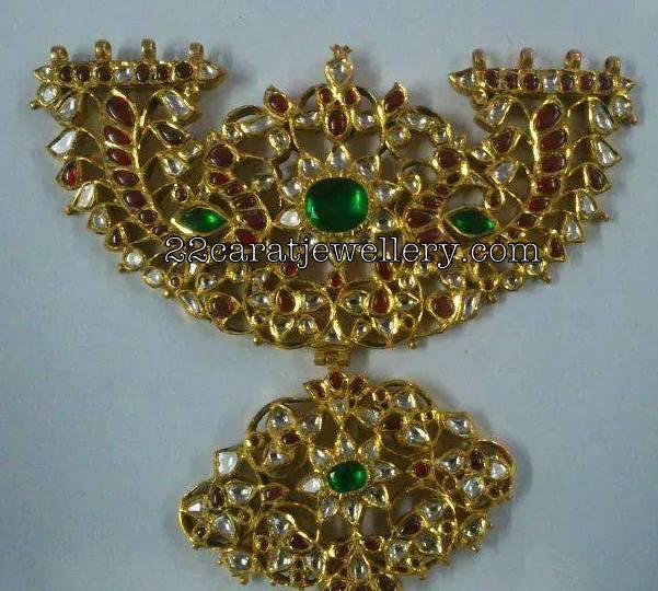 Kundan Work Patakam Pendant Sets