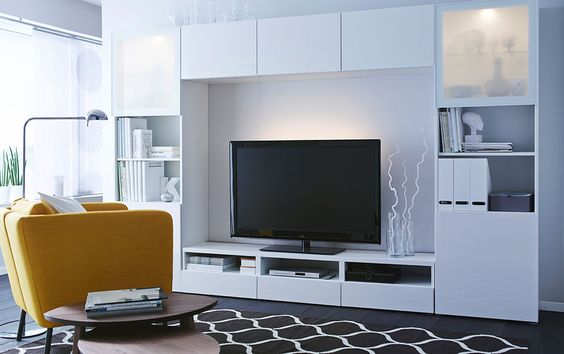 Decoraci n 15 composiciones de muebles tv con la serie - Ikea muebles salon tv ...