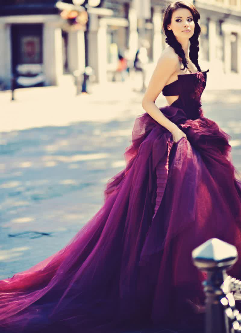 Daring Purple Colored Bridal Gowns 4 | bridal wedding trend