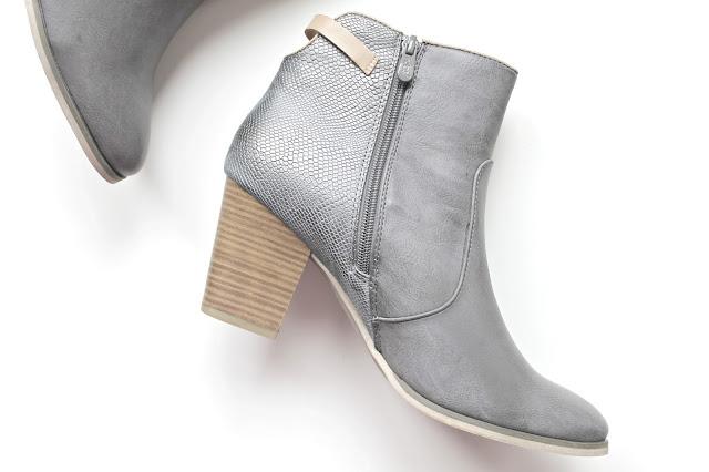 fabulous fabs grijze enkellaarsjes schoenen