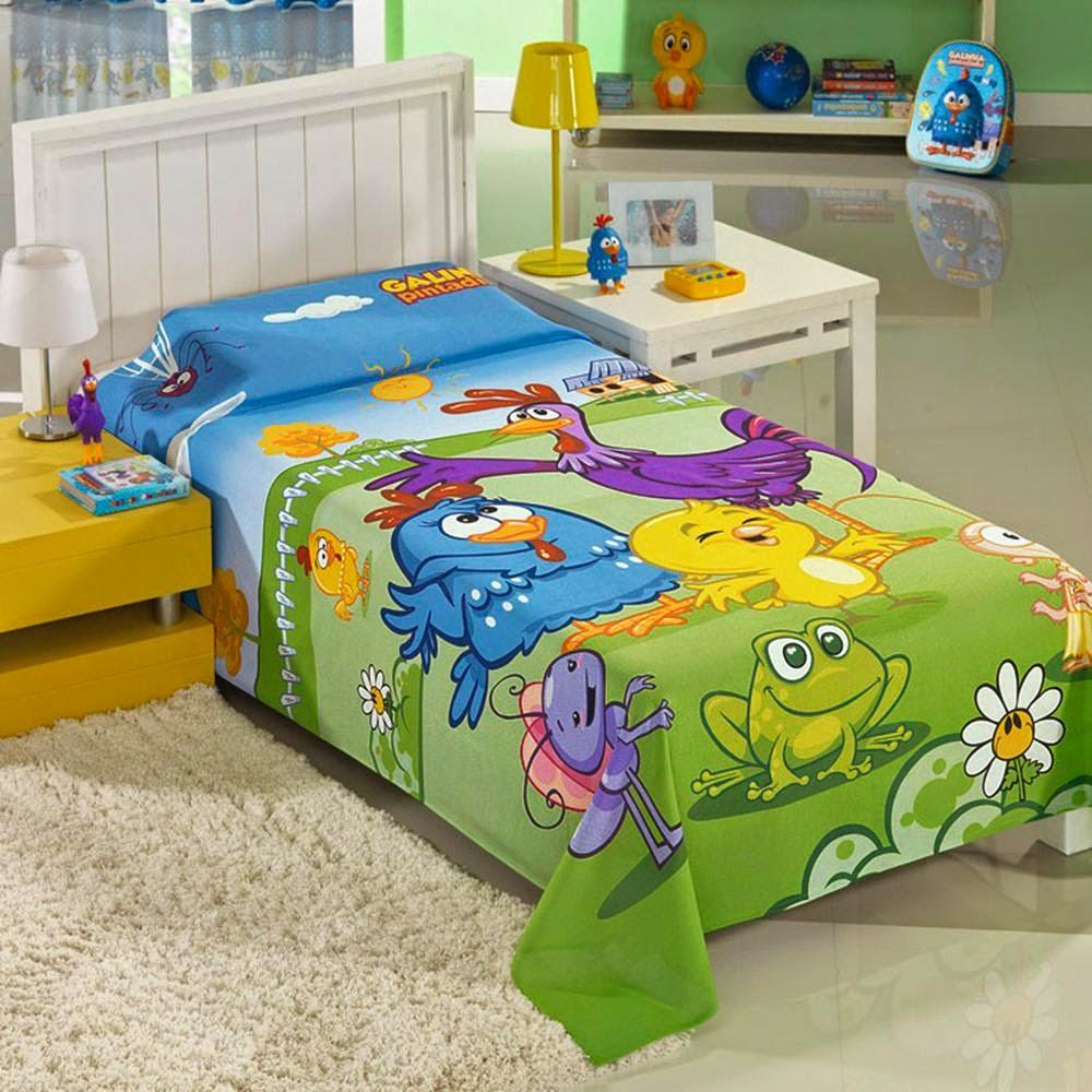 roupa de cama galinha pintadinha
