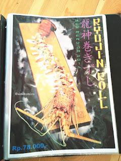 menu japanese sushi zushioda padang