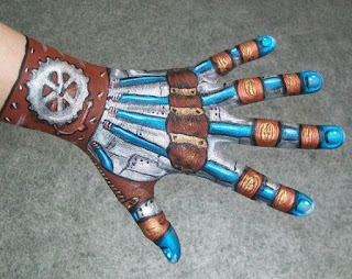 steampunk robot bodypaint for the hand and body