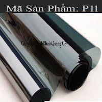 Decal dán kính chống nắng phản quang mã P11