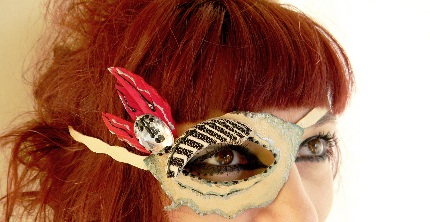 Handmade Eye Patch Pirate Mask All Seeing Eye Steampunk Gothic