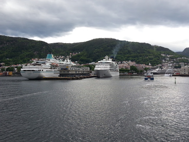 Cruise ship Seabourn Quest in Bergen, Norway