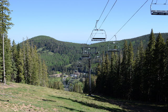 ski lift coming up the mountain