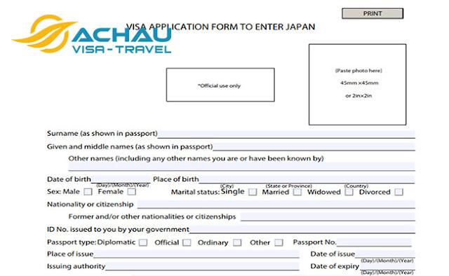 Cần lưu ý điều gì trên tờ khai xin visa du lịch Nhật Bản?2
