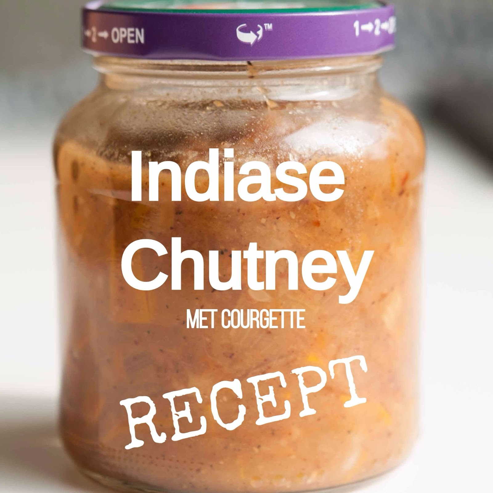 Recept Chutney Courgette pittig Indiaas