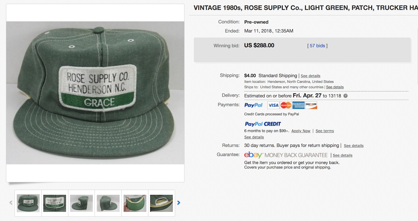 Did you realize these hats are worth so much money  Here s another from a  farm association. aeb8cd5979a